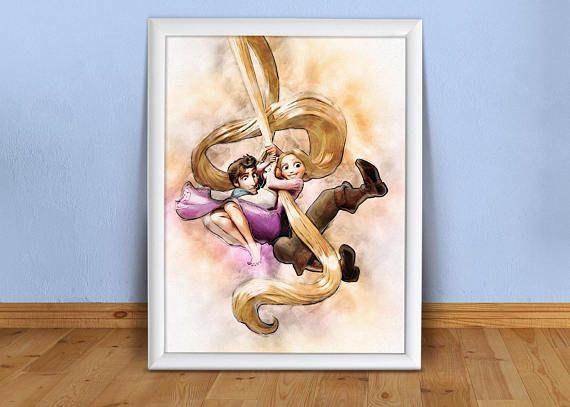 Rapunzel Printable Wall Decor Tangled Cartoon Large Images