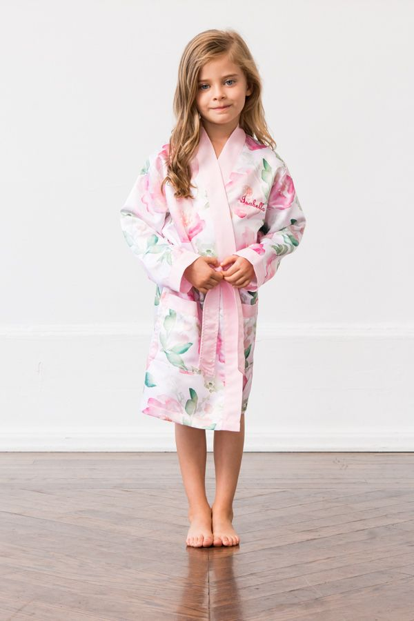 Wrap your cutest little helper in a soft personalized satin robe with  pockets 8302c777d