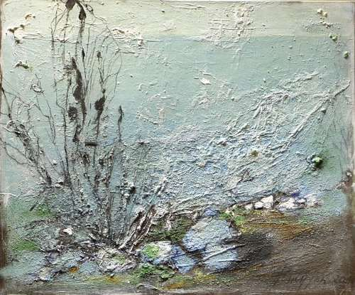 """Inge Philippin - """"The Depths of the Sea""""  - mixed media on canvas"""
