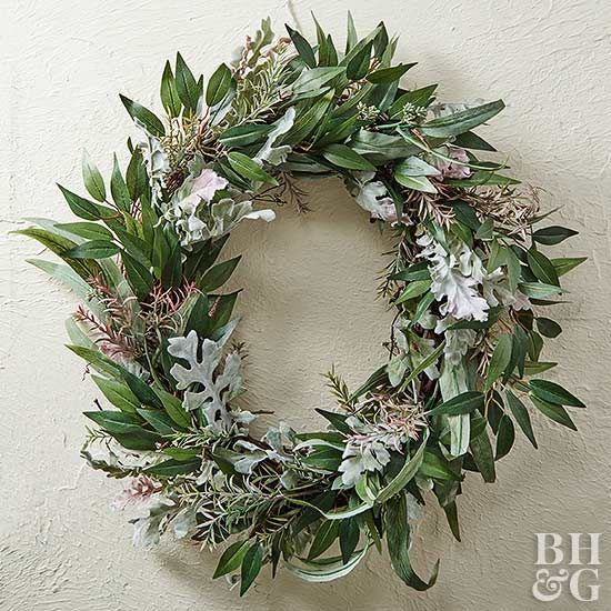 Lush green wreaths aren't just for winter.