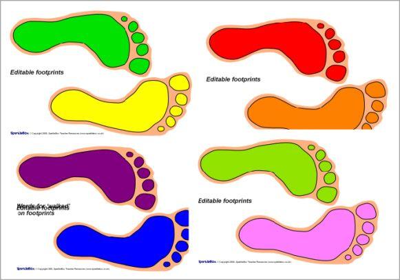 Editable footprints (SB2665) - SparkleBox