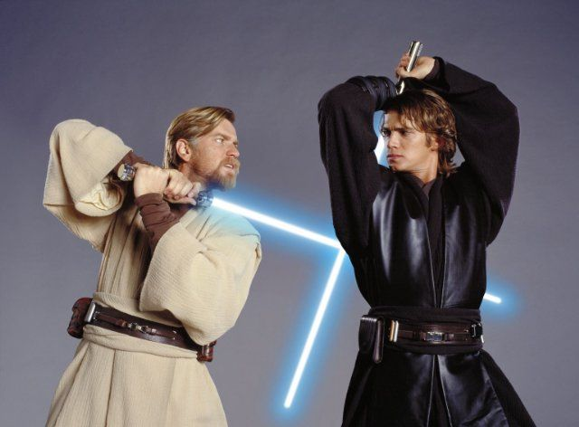 Ewan McGregor and Hayden Christensen in Star Wars: Episode III - Revenge of the Sith