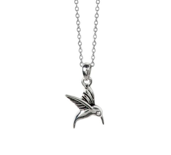 HUMMINGBIRD Charm Necklace by Caroline Néron