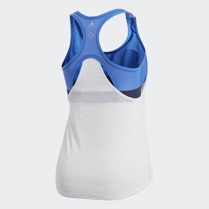 adidas Wanderlust Yoga Two-in-One Tank Top - White | adidas US