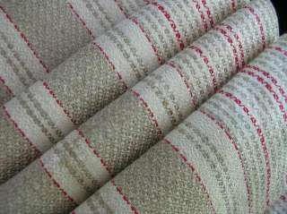 Antique WARM TONE & RED WEAVES Flax Linen HAND Guest Kitchen TOWEL