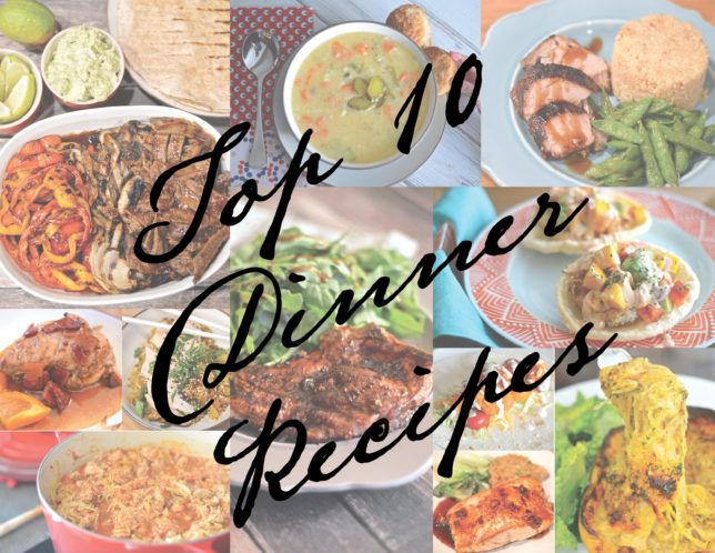 Top 10 Favourite Dinner Recipes @fitlessflavor - My Favourites On this page you can find my top ten lists. After more than a year of cooking different recipes, and following numerous requests from all of you guys, I finally sat down and accomplished the almost impossible task of coming up with my all time favourite recipes. Enjoy!