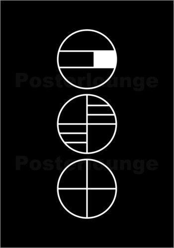 Poster / Leinwandbild BAUHAUS GLYPHEN – THE USUAL …