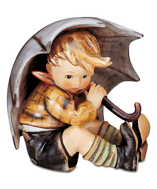 Small Umbrella Boy Figurine