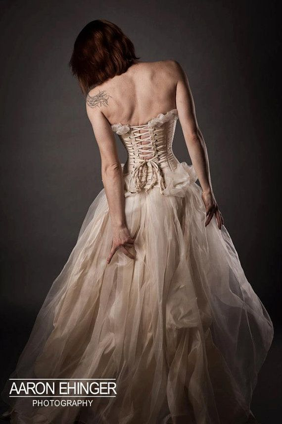 Custom Tight Lacing Corset Bridal Gown fairy by EccentricallyLaced, $1500.00