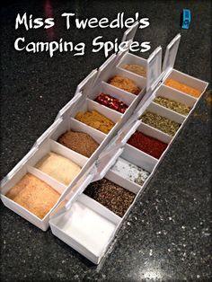 Miss Tweedle: DIY Camping-friendly Spice Rack