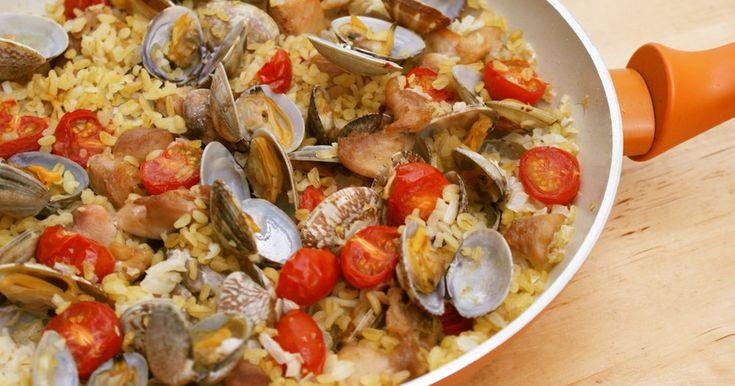 フライパンで簡単!ブルグルのパエリア by グローバルメディア [クックパッド] 簡単おいしいみんなのレシピが260万品