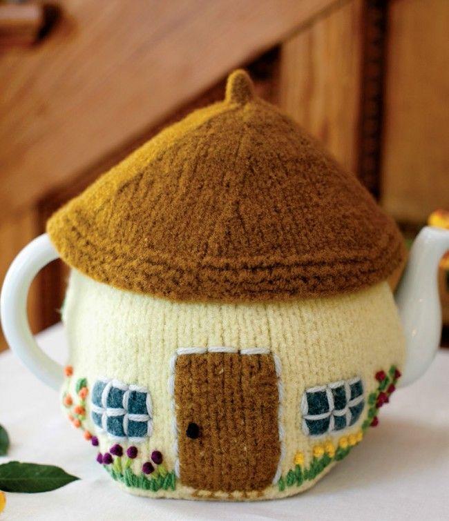 Cottage Tea Cozy Knitted Knitting Pattern - Patterns - Knitting