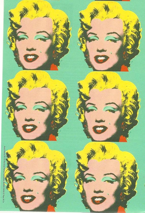 Andy Warhols Marilyn Monroe Flat Paper Sheet  X  Inches  Andy Warhols Marilyn Monroe Flat Paper Sheet  X  Inches  Artist  Andy  Warhol      Pop Artist  Pinterest  Warhol Andy Warhol  Portraits