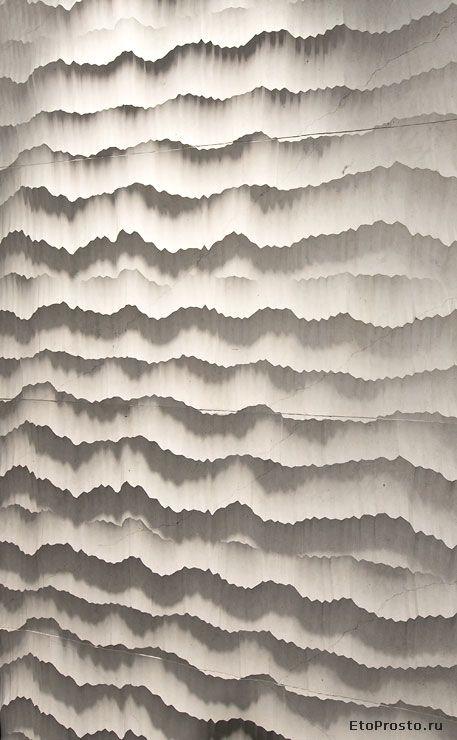 Cersaie 2012 tile novelties. Three demensional tile from Petra Antiqua