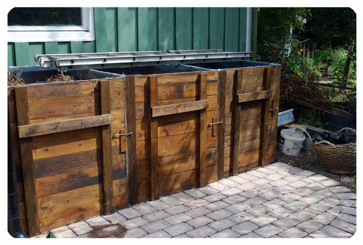 Kompost med dörrar