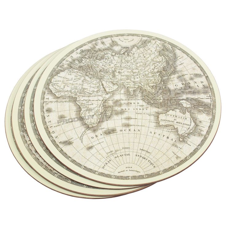 Set of 4 Luxury Round Globe Cream Placemats Dining Table Place Settings Mats
