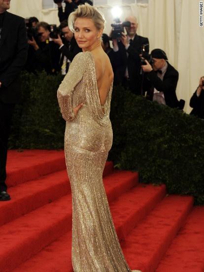 Carmen Diaz in a Stella McCartney gown.