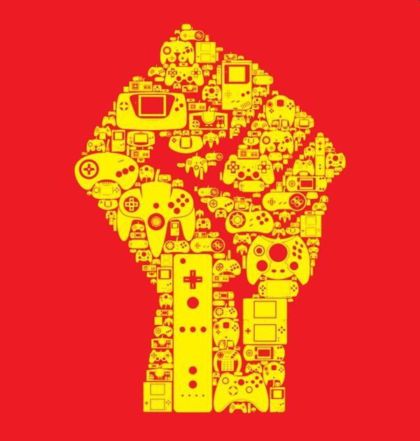 The coming gamin revolution: screenprinted T-shirt