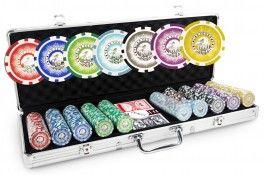 Mallette Laser Eagle 500 jetons - Pokeo.fr - Mallette de poker en aluminium 500 jetons Laser Eagle en PP stické 11,5g + 2 jeux de cartes en carton plastifié + 1 livret de règles du jeu Pokeo.