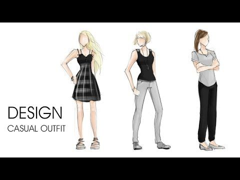 Fashion design | Casual outfit | sketch - YouTube