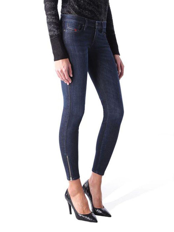 Details zu Diesel Damen Jeans Hose Skinny Skinzee-Low Super Slim 0843F