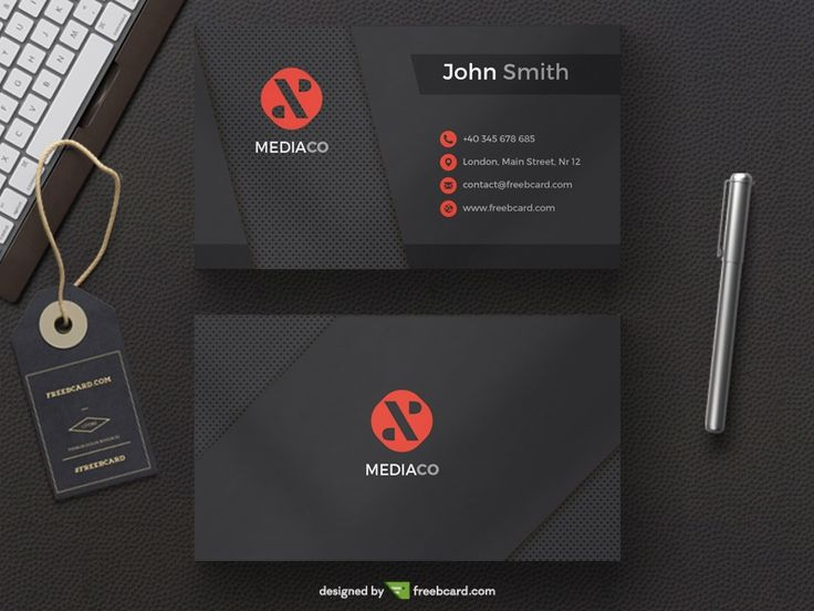Dark Mediaco - Black Red Personal Card - Freebcard