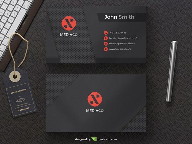 Dark Mediaco - Black Red Personal Card - Freebcard