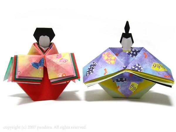 折り紙のひな人形 origami hina dolls