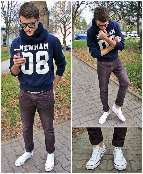 Sweatshirt, Pants, Converse Sneakers, Iphone Case, Mister Spex Sunglasses....now if only we had real football weather to need an outfit like this!