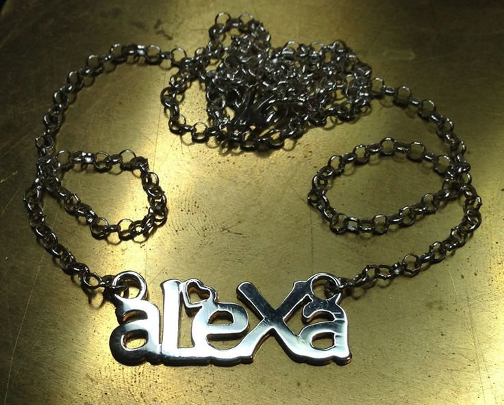 Personalized necklace! Excelent gift for Christmas... 925 Silver Handmade.