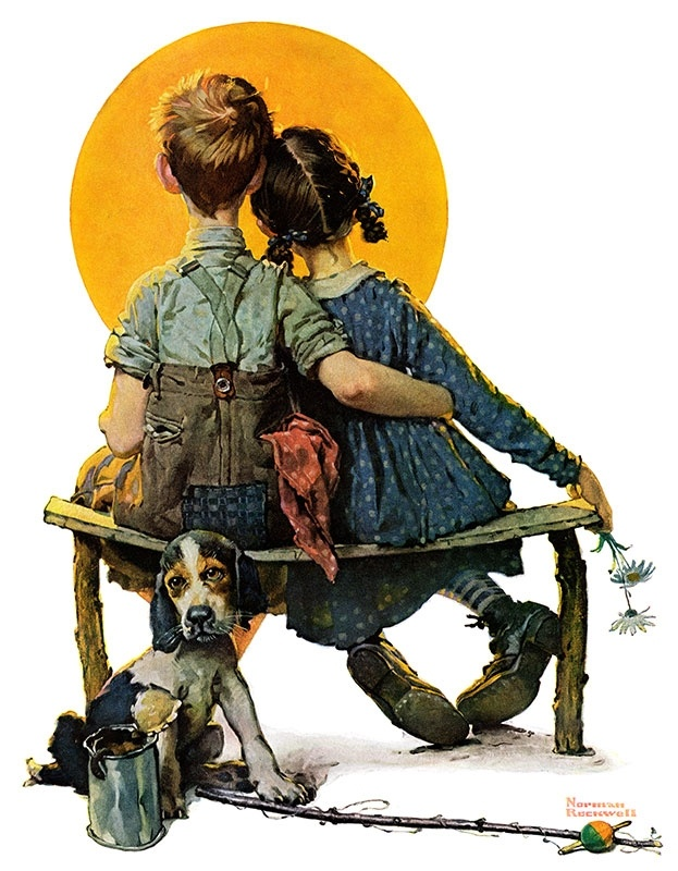 Norman Rockwell...my dad drew this photo and I couldn't find it when we moved! Good memories.
