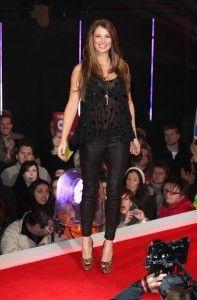 Natasha Giggs enters the Celebrity Big Brother House in Borehamwood - Leather Celebrities