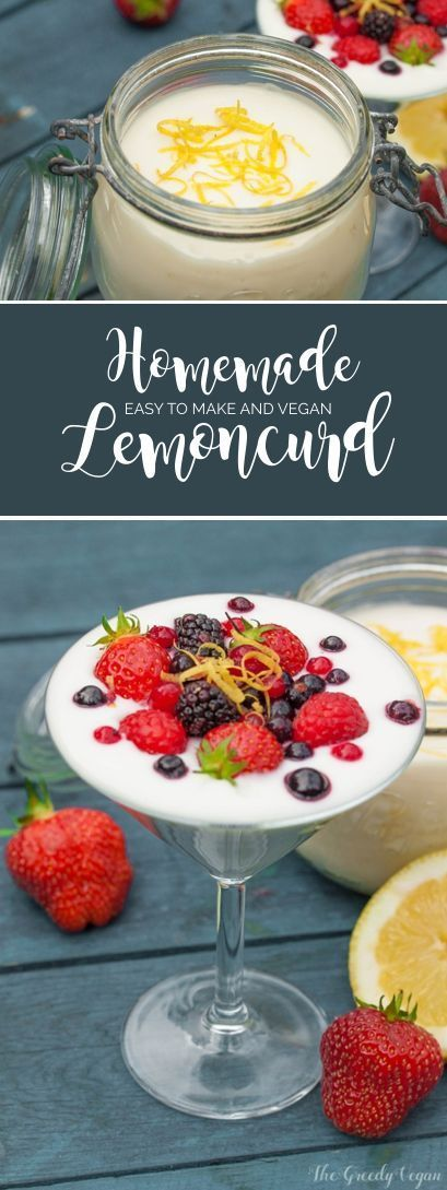 This tasty homemade vegan lemon curd only contains a few ingredients and is so easily made. It is the perfect companion for fresh summer berries and cakes.