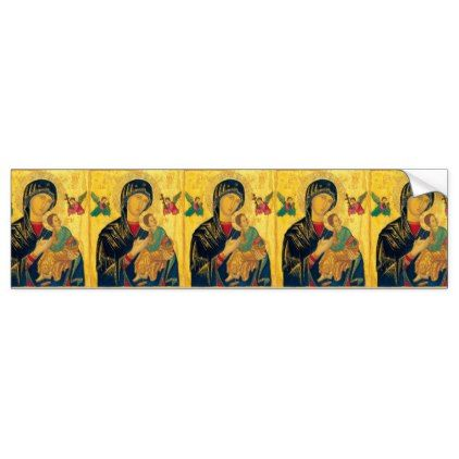 Jesus Mother of Perpetual Help/n Bumper Sticker - christmas stickers xmas eve custom holiday merry christmas
