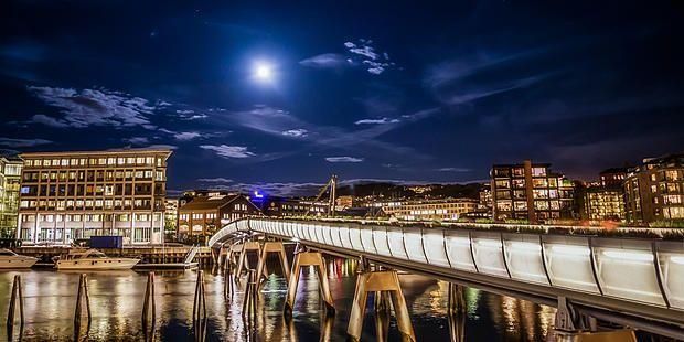 """Verftsbrua i Trondheim"" - Veggbilder Fotokunstner - Veggbilder.no"