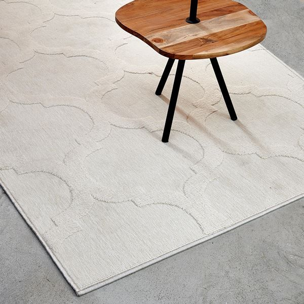 rabia tapis blanc casse larg 140 x