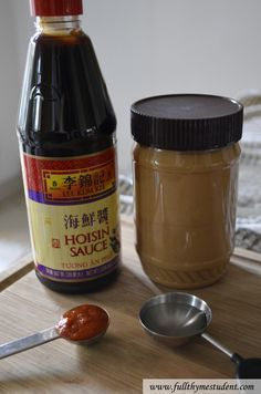 Peanut dipping sauce for Vietnamese spring rolls by Full Thyme Student