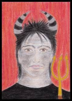 Portrét Mikuláše, Anděla a Čerta