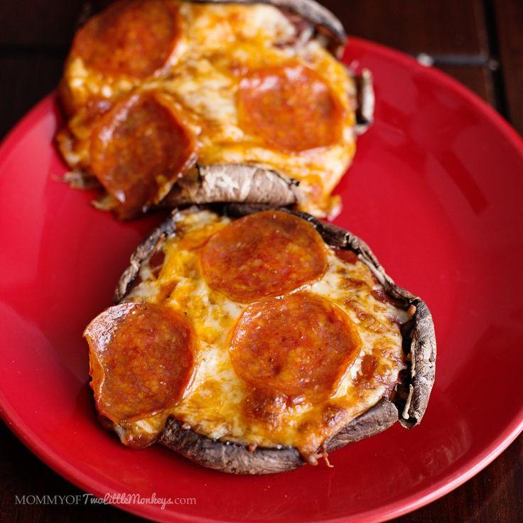 Pepperoni Pizza on a Portobello Mushroom Crust - 5 Points Plus