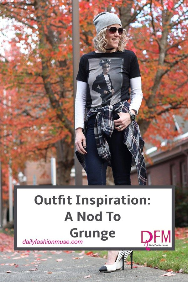 Check out the outfit inspired by grunge and travel back in time to 1990 where Nirvana reigned as the band of the decade. Here is a new modern way to wear it