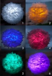Recycled Lanterns made from plastic bags