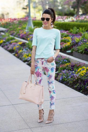 04ca9d57a 20 Pink, Black, & Blue Floral Pants Fashion Ideas 2016 For Girls & Women