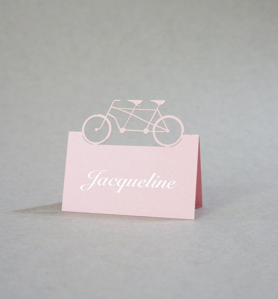 Bicycle Place Cards  Wedding Place Card Table by JonNiPaperGoods, $115.00