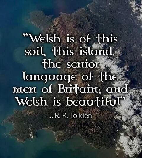 J.R.R. Tolkein  I believe he modeled his Elvin language after Welsh.