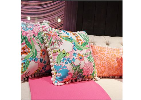 lilly pulitzer pillows for the sunroom