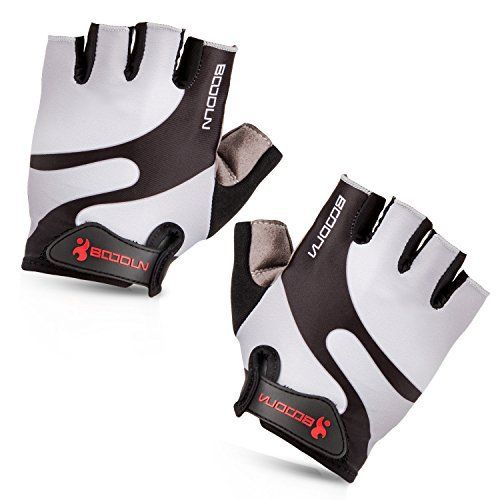 Maso Cycling Gloves with Shock-absorbing Foam Pad Breathable Half Finger Bicycle Riding Gloves Bike Gloves B-001 (Grey, Medium) - http://www.exercisejoy.com/maso-cycling-gloves-with-shock-absorbing-foam-pad-breathable-half-finger-bicycle-riding-gloves-bike-gloves-b-001-grey-medium/cycling/