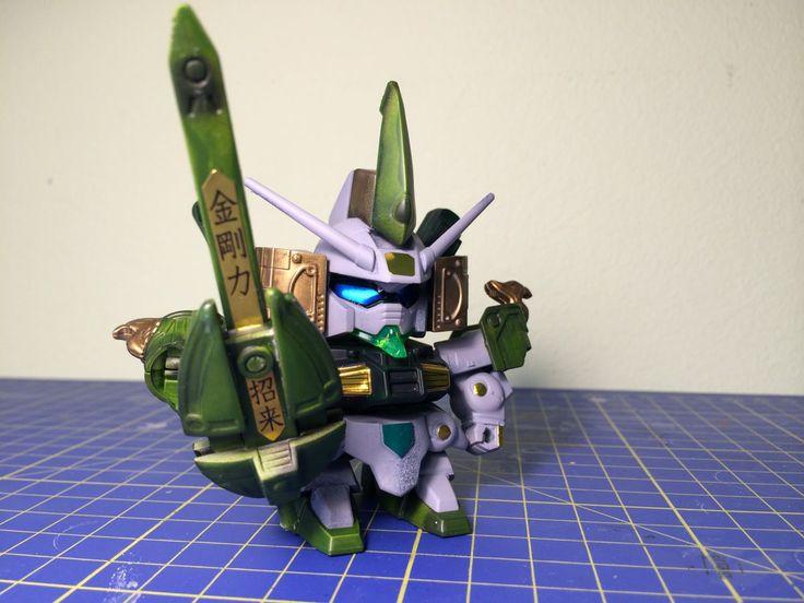Bandai SD BB #208 Musha gundam Mk.IV - Airbrushed