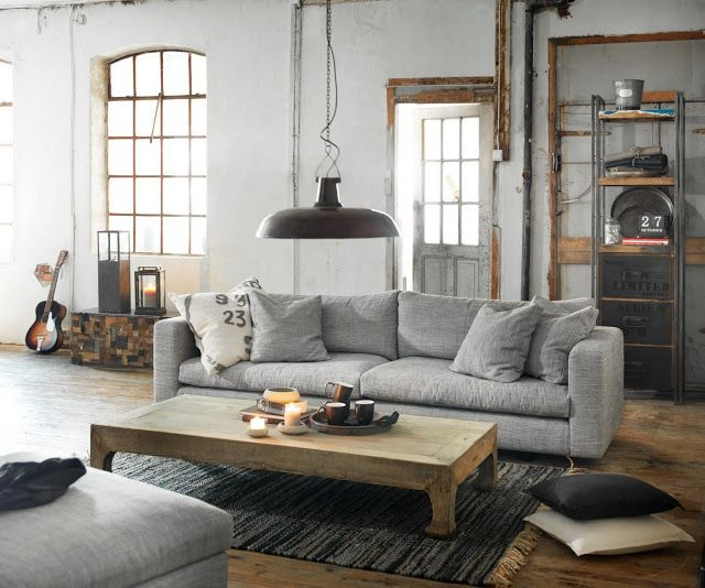 34 Best Industrial/Distressed Living Room Images On