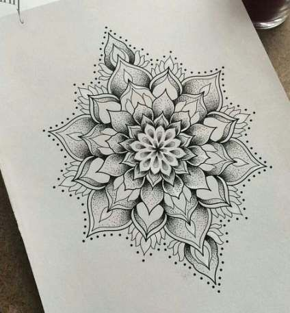 41+ Ideas For Tattoo Mandala Dotwork Black