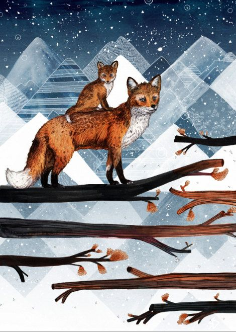 Fox Wood // A3 Print